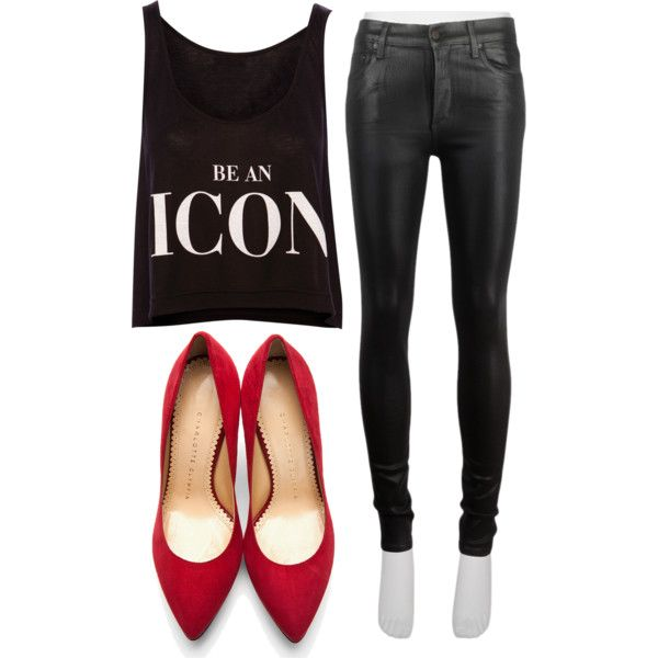 """Lady in red heels"" by bloobaz on Polyvore"
