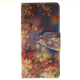 цвет держатель цветок карты бумажник PU кожаный чехол для телефона галактики J5 (2016 г.)