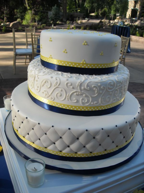 wedding cakes navy blue and yellow 9 best blue amp yellow wedding cakes images on 25069