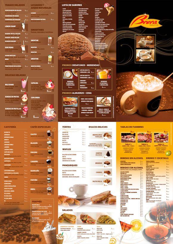 Brera cafeter a dise o gr fico de carta menu print - Disenos de cafeterias ...