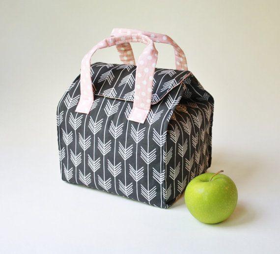 Aangepaste geïsoleerd Bento Box vervoerder / Lunch Tote / Lunch tas - herbruikbare - wasbaar - Kies uw stof