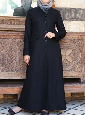 Dorchester Formal Wool Suiting Jilbab     This smart, professional jilbab is ideal attire for the working Muslimah. Formal, yet comfortable, you'll look both trendy and dignified. Be a leader in both style and quality with SHUKR.     Price: $139.95 $99.95