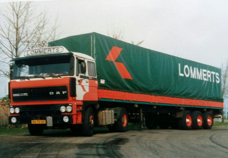 DAF FT 2800 4X2 met huifoplegger van Lommerts te Delfzijl