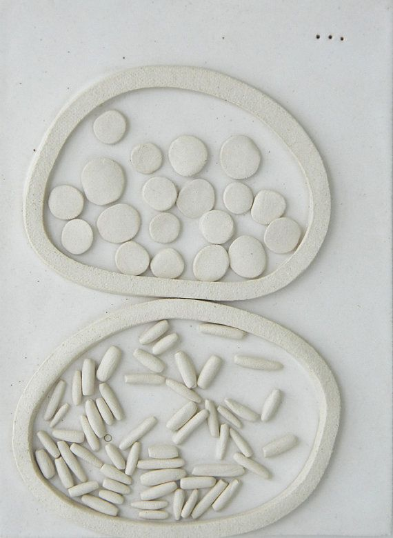 Abstract Sculptural Ceramic Wall Hanging by Tina Schowalter.