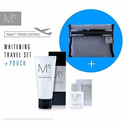 [AllbyAnn] MdoC Moisture Foam Cleansing+Whitening Toner Lotion+Pouch Travel Set