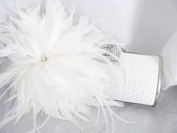 Blanc mariée mariage sac embrayage usage par weddingswithflair, $50.00
