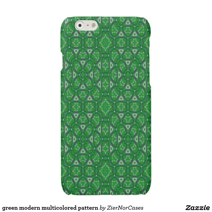 green modern multicolored pattern glossy iPhone 6 case