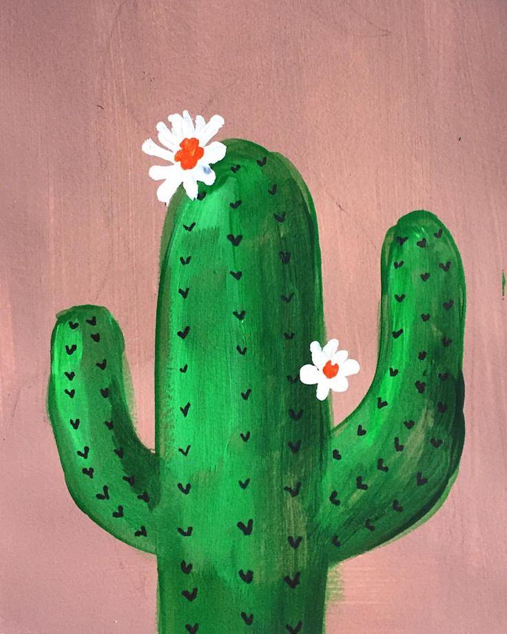 #acrylic #painting #cactus