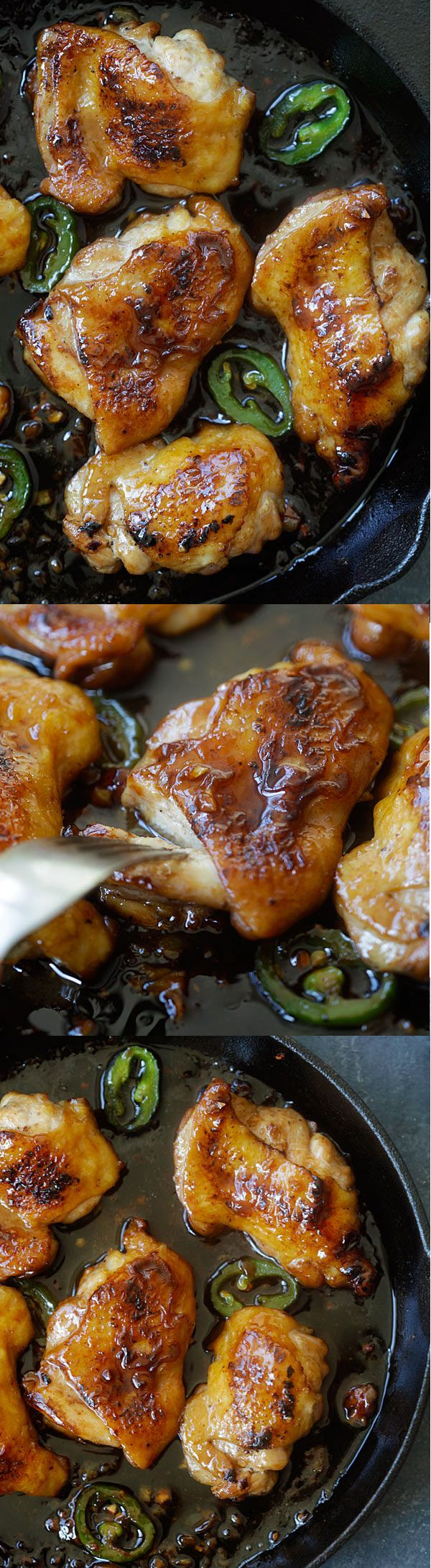 Caramel chicken – the easiest and most delicious Asian chicken dish ever with sticky, sweet and savory chicken. Dinner is done in 20 mins | rasamalaysia.com