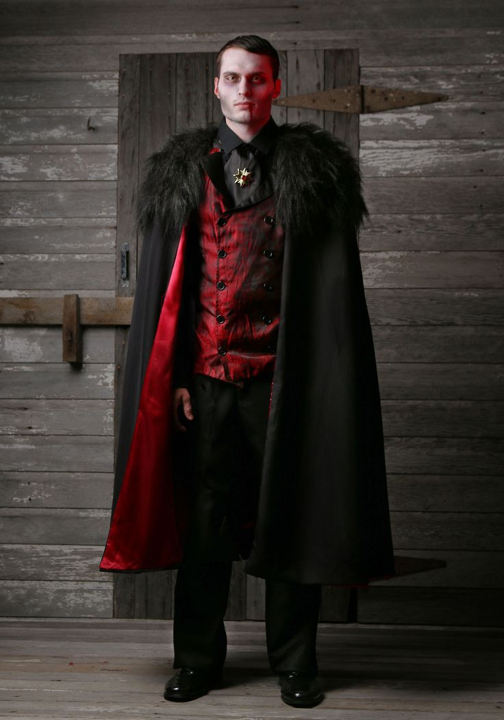 turn heads when you go in this classic and debonair deluxe vampire costume - 2017 Men Halloween Costume Ideas