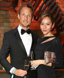 Jenson Button and his wife Jessica Michibata were  gassed by burglars who broke into their home and stole 250000 engagement ring