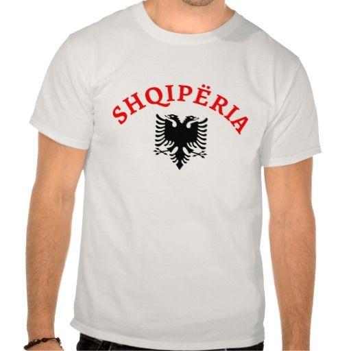 Albania with the eagle of the flag - Shqiperia dhe shqiponja e flamurit - tshirt - #bluze - Fully customizable - add your own text if you want - Mund te shtoni tekst sipas deshires. - #shqip #shqiptar #shqiperia #tshirt #shqiptare