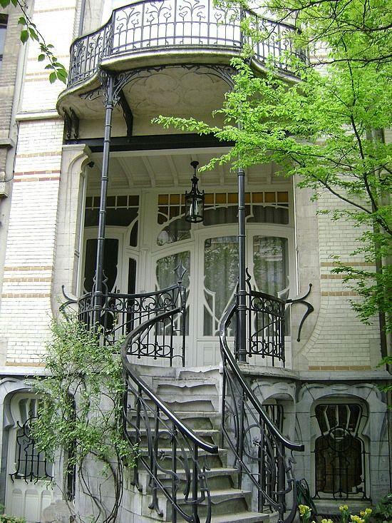 Art Nouveau house, Cogels Osylei in Antwerp-Belgium