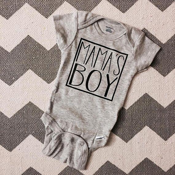 Mama's Boy onesie, baby boy onesie, baby gift