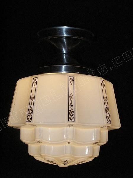 1930 Art Deco Kitchen Design | deco goble | art deco light | antique lighting