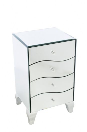 4-drawer wavy style chest