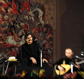 """Also Asia Society has awarded him by Lifetime Cultural Heritage Award. Master Nazeri has released over forty recordings to date; His """"The One Hundred Leaf Flower"""" (Gol'eh Sad Barg) recording has held the record for the highest selling album of Persian classical music and Sufi music in the history"""