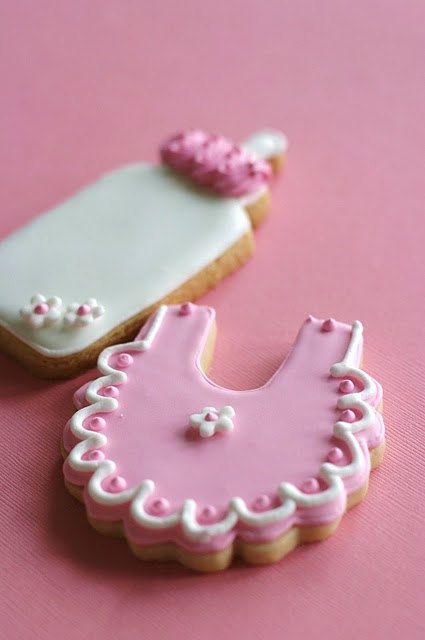 Baby Shower CookiesBaby Girl Cookie Favors by pinklittlecake