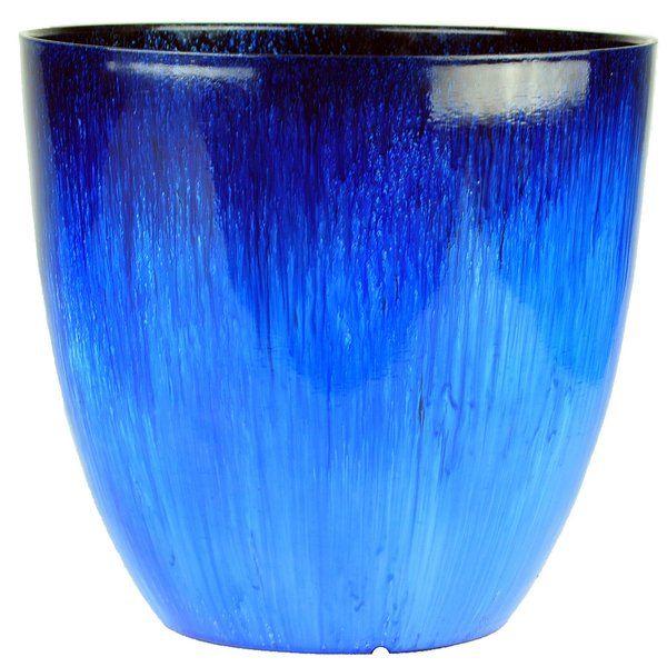 Flower Resin Pot Planter Blue Planter Flower Planters Planters
