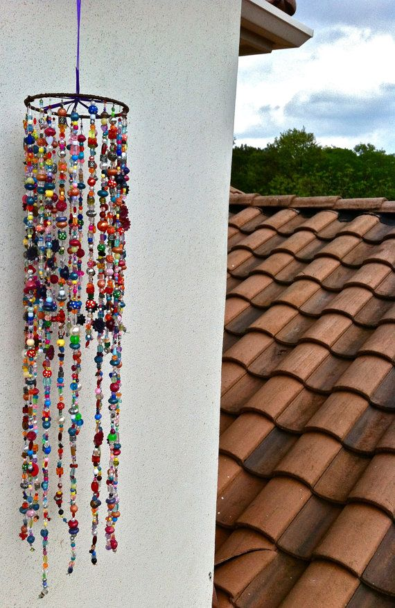 Hanging Beaded Decoration by emarenoelle on Etsy, $25.00...I'm thinking I can make it myself for a LOT less!