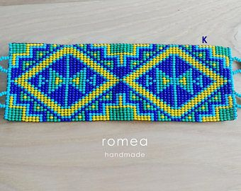 Mexican Bracelets - Geometric Pattern - Multicolor - Unisex - Huichol Art - Romea Accessories - Jewelry - Beads