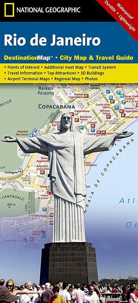 Rio de Janeiro, Brazil DestinationMap by National Geographic Maps