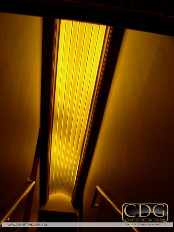 Hunter Douglas Linear Metal Ceilings in Nightclub Design