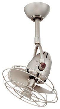 """Matthews Fan Company DI-MTL Atlas 16"""" Single Oscillating Directional Ceiling Fan midcentury-ceiling-fans"""