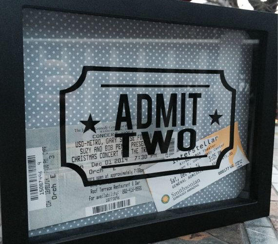 8x10 Admit Two Shadow Box for Ticket Stubs by LittleLostButtonDC