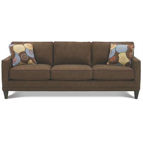 Sectional Sofa Rowe Townsend Customizable Fabric Sofa with Track Arms u Wood Legs