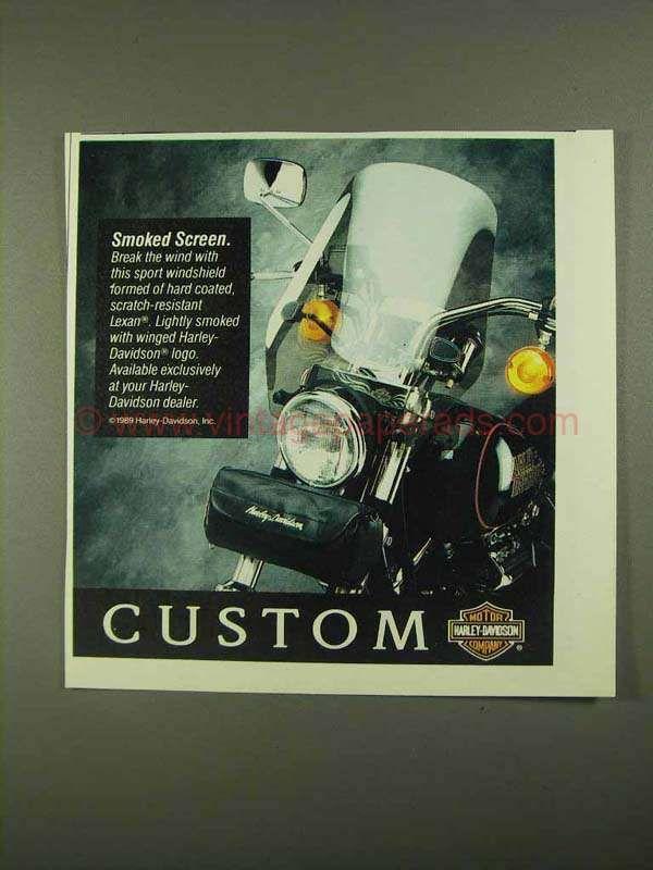 1990 Harley-Davidson Sport Windshield Ad - Smoked