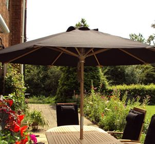 Diamond Teak Garden Parasol From Posh Garden Furniture