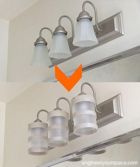 Spectacular Bathroom Design Ideas DIY lighting fixture makeover