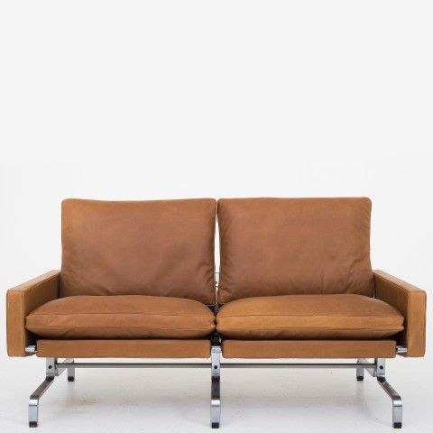 PK 31/2 - Reupholstered sofa in Dunes leather