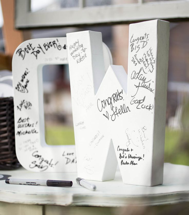Paper Mache Letters Guest Book | Wedding Guest Book Ideas