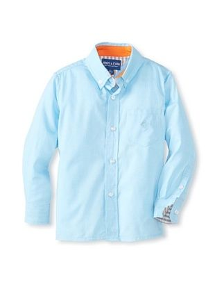 75% OFF Andy & Evan Boy's 2-7 Little S'Collar Big Boy Button-Up (Teal Twill)