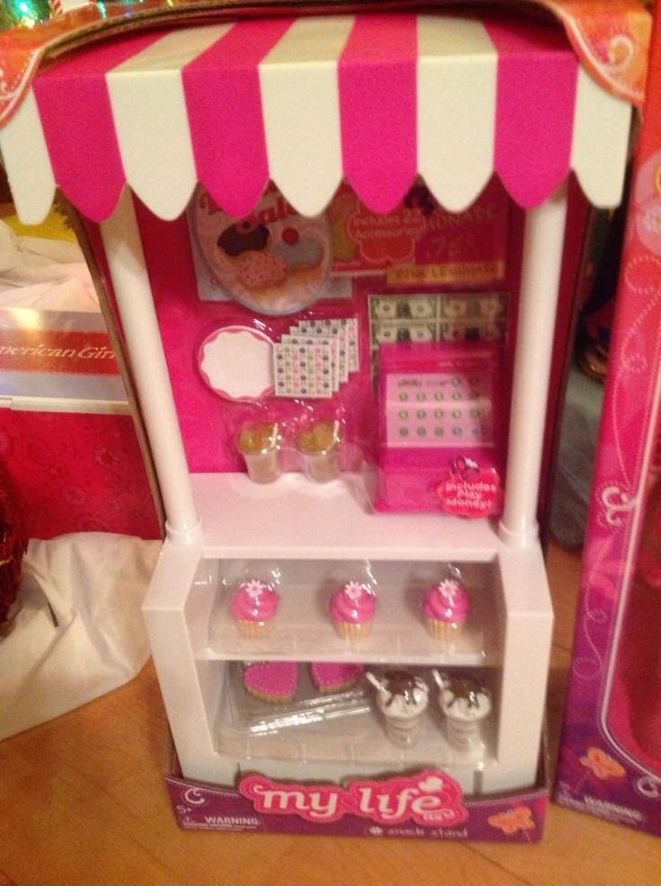 """My Life Snack Cart Bakery Stand Fits American Girl 18"""" Grace Thomas Doll GOTY"""