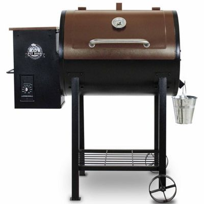 Pit Boss 700FB Pellet Grill -- this grill is amazing! It's a pellet smoker/BBQ but with a sear/char-grill option, too. Hardwood-smoked flavor with delicious char.