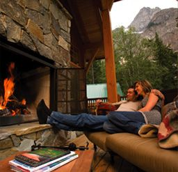 Rocky Mountain Log Cabin Accommodation   Packages   Cathedral Mountain Lodge