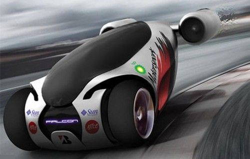Falcon Concept Car – A Futuristic Vehicle With Jet Propelled Engines by by Samir Sadikhov