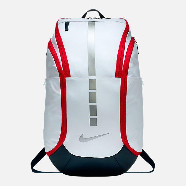 Front View Of Nike Hoops Elite Pro Backpack In White Obsidian Basketball Backpack Nike Elite Backpack Nike Backpack