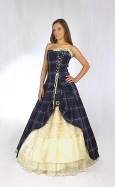Tartan Wedding Dress Bella | Kilts and Scottish Kilts from Edinburgh.