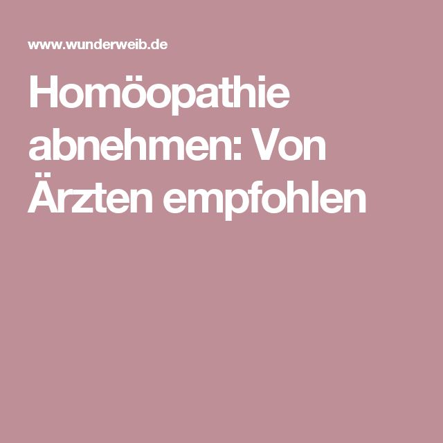 homöopathie diät abnehmen