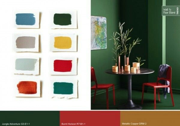 Holiday color palette