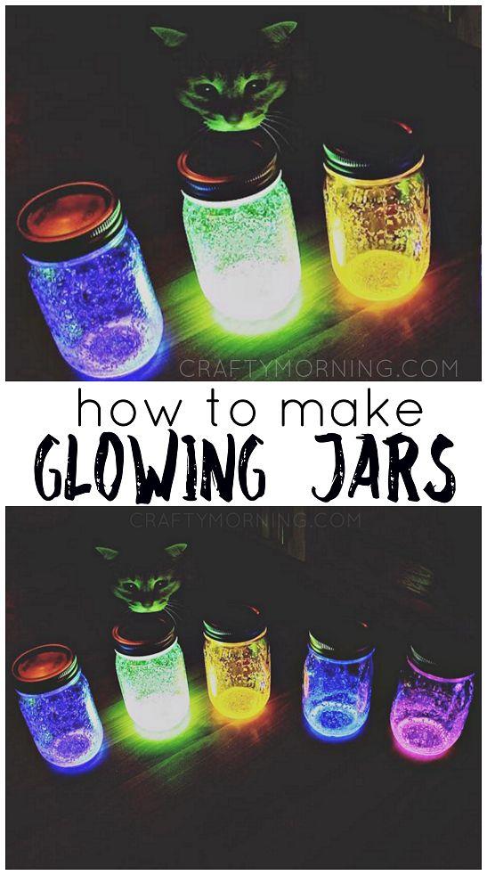 How to Make Glowing Jars (Using Glow Sticks) #glowsticks #glowingjars #doyglowingjars #funforkids