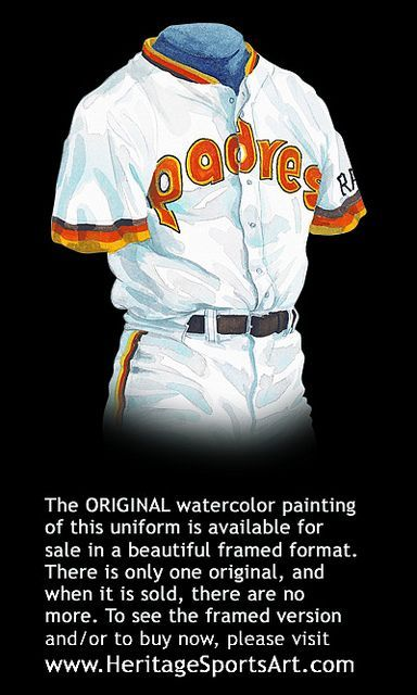 San Diego Padres 1984 uniform artwork