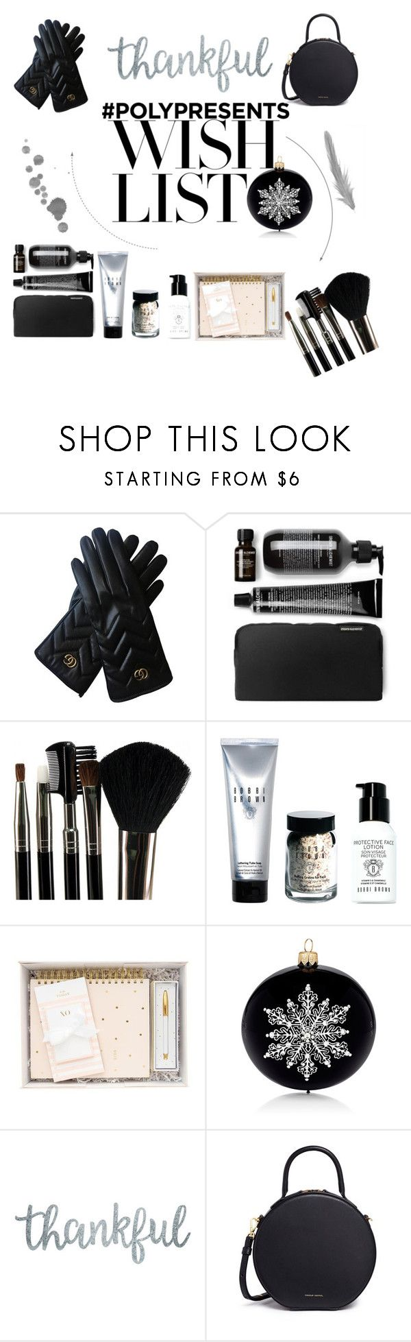 """""""#PolyPresents: Wish List"""" by deadbeat-horn on Polyvore featuring Gucci, Glamour Status, Bobbi Brown Cosmetics, Barneys New York, Mansur Gavriel, contestentry and polyPresents"""
