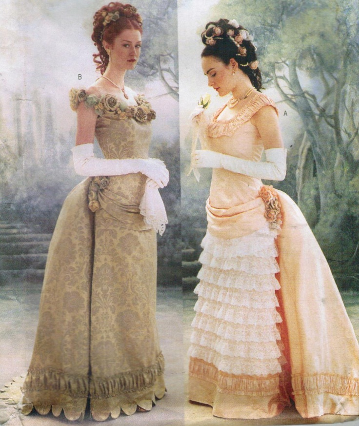 Butterick Making History Victorian Bustle Dress Sewing Pattern 3012    Victorian Bustle Gowns
