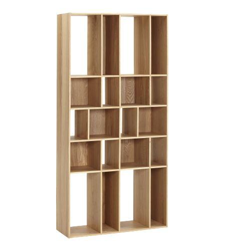 Anvendelig bokhylle som fås i eik og lakkert finér i fargen grå og hvit. Fås også i mindre variant. Perfekt til oppbevaring av bøker, filmer eller pyntegjenstander.