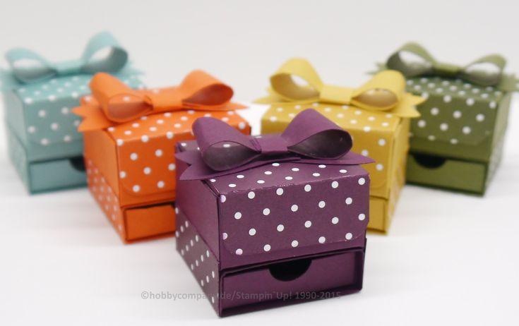 Anleitung Geschenkbox mit Schleife                                                                                                                                                                                 Mehr